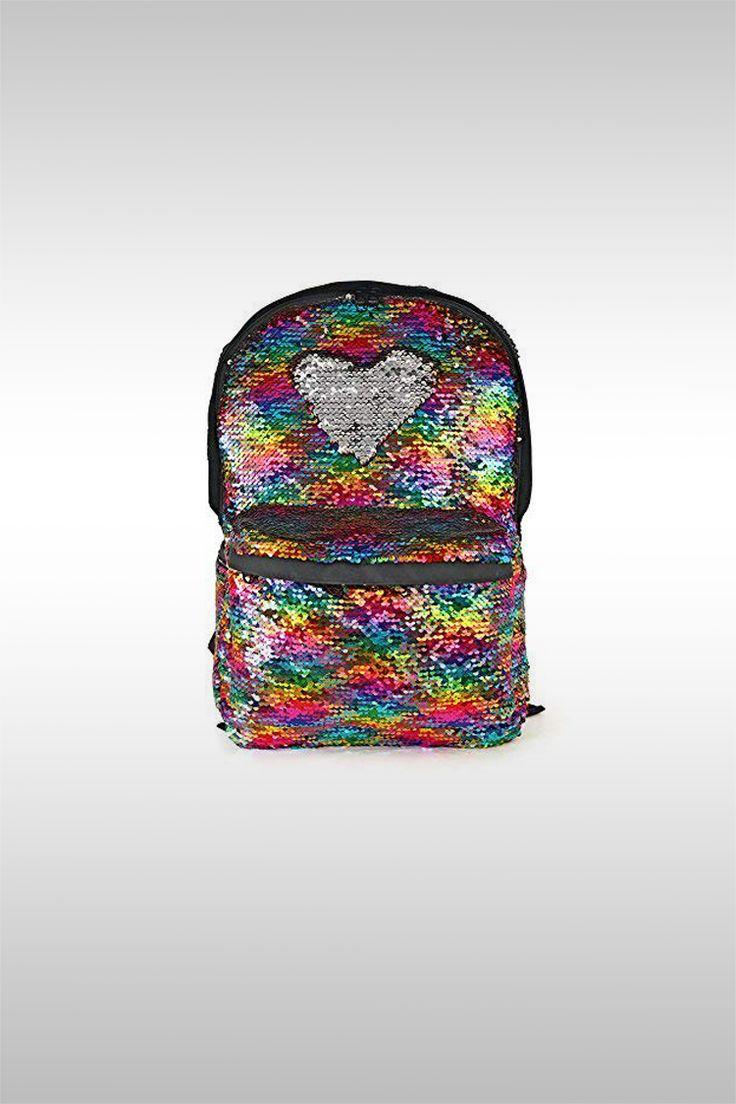 Reversible Sequin School Backpack - Image Credit: Woyyho