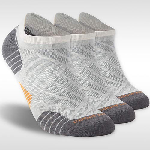 Contrary to popular belief, wool harbors more bacteria than other textiles, but sweat-soaked wool is less malodorous that other materials (for reasons not fully known).  Pictured above:  Zealwood Unisex Merino Wool Athletic Socks (3-Pack) .