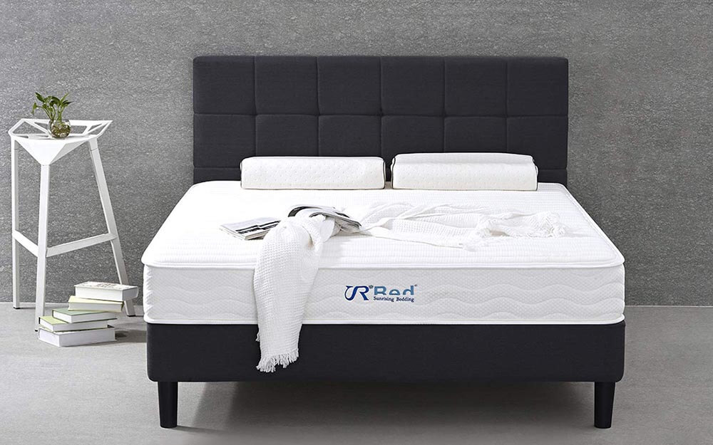 10-Inch Natural Latex Hybrid Queen Mattress - Image Credit: Sunrising Bedding