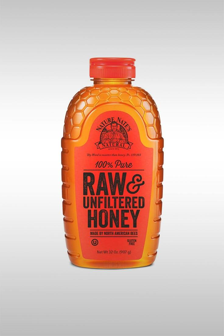 100% Pure Raw and Unfiltered Honey - Image Credit: Nature Nate's