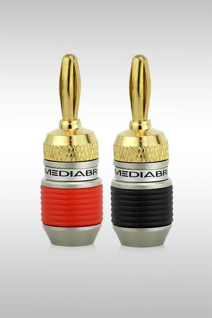 24K Gold-Plated Banana Plugs - Image Credit: Mediabridge