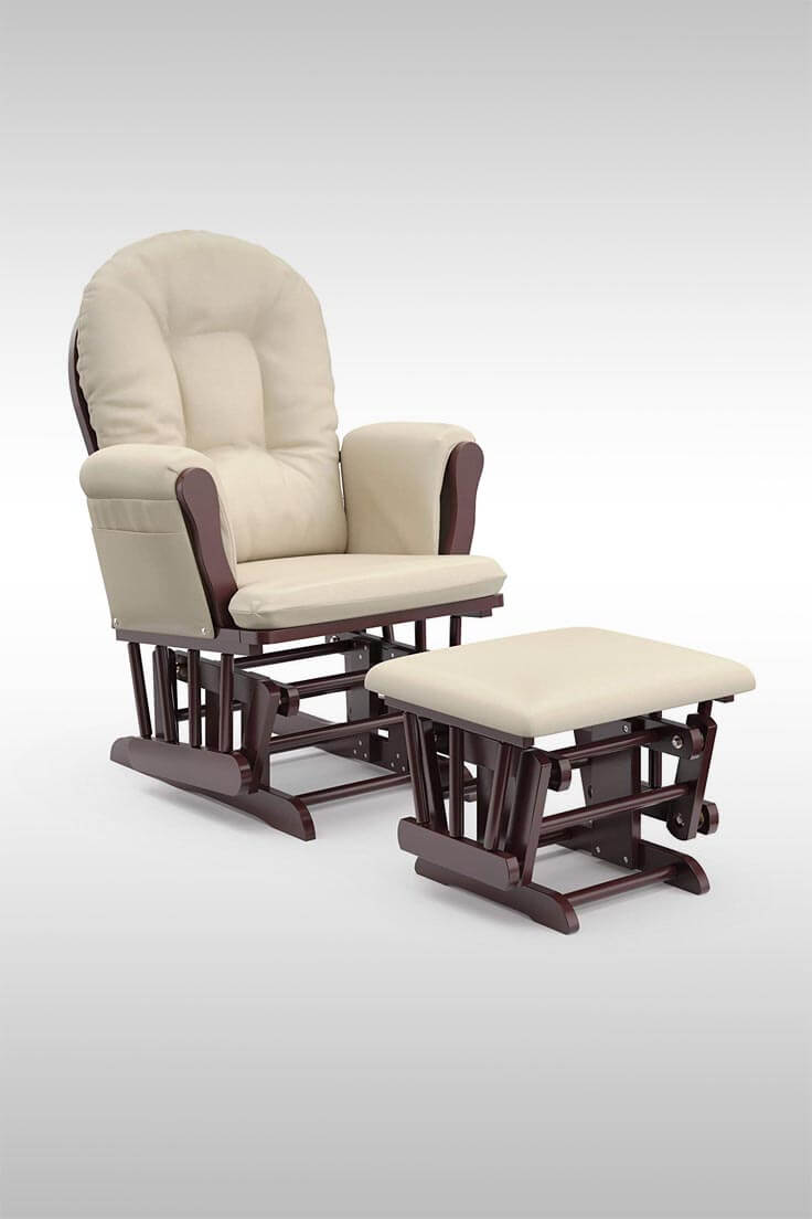 Rocking Chair and Ottoman for Breastfeeding - Image Credit: Storkcraft