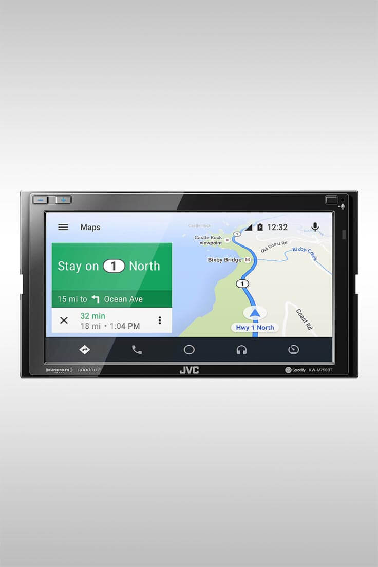 KW-M750BT Android Auto 2-DIN AV Receiver - Image Credit: JVC