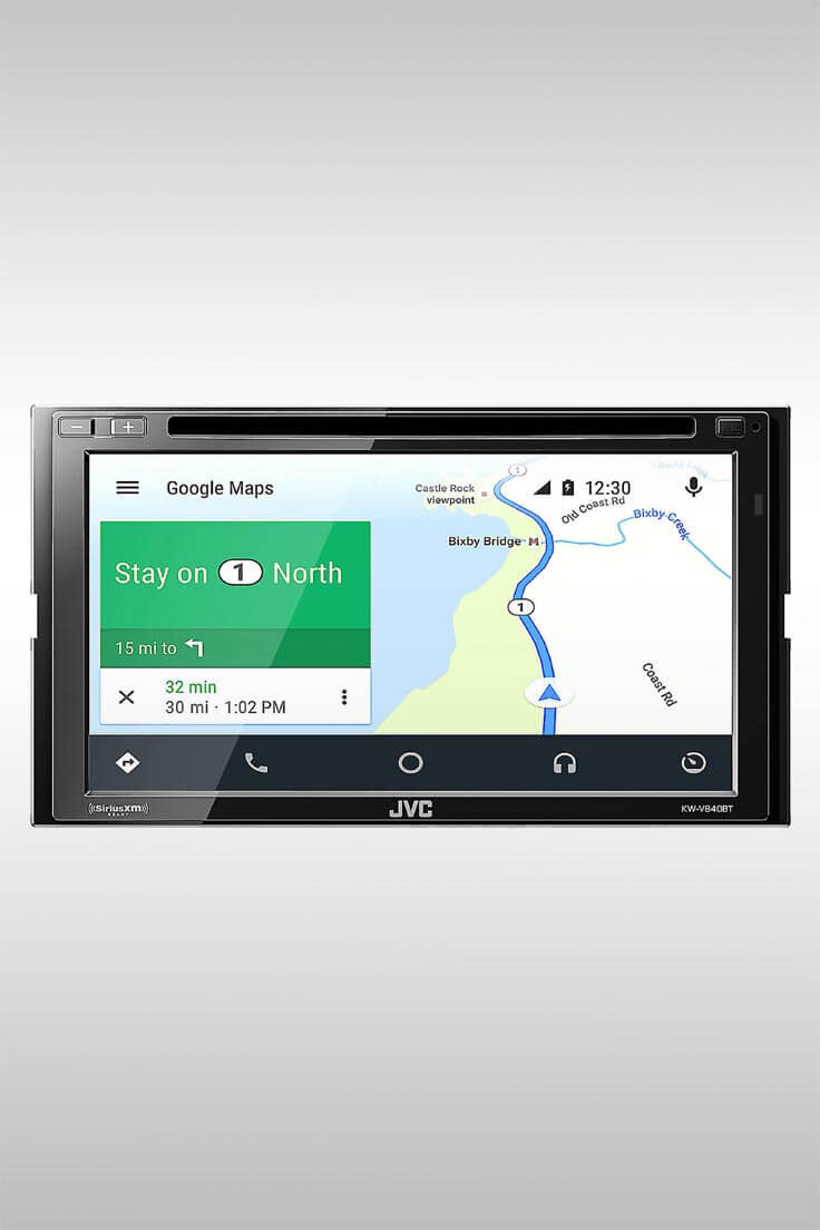 KW-V840BT CD/DVD Android Auto Car Stereo - Image Credit: JVC