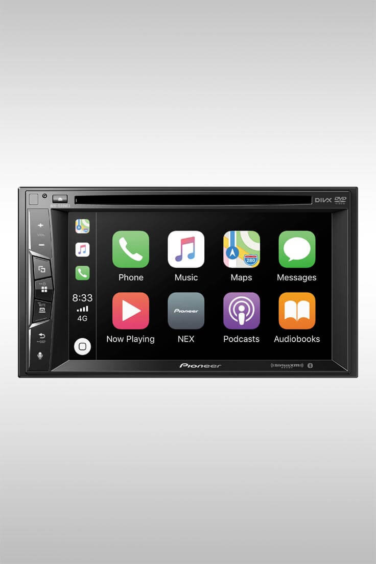 AVH-1550NEX 6.2 Inch AV Receiver with Carplay and DVD Drive - Image Credit: Pioneer Electronics