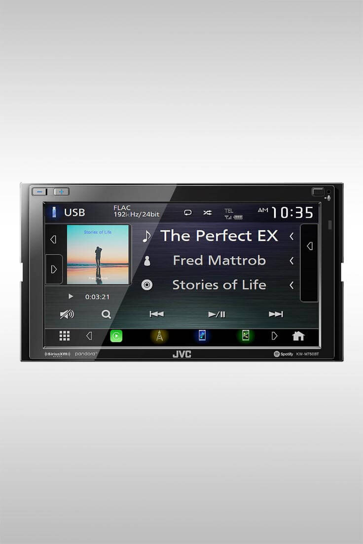 KW-M750BT Receiver Compatible with Apple CarPlay - Image Credit: JVC