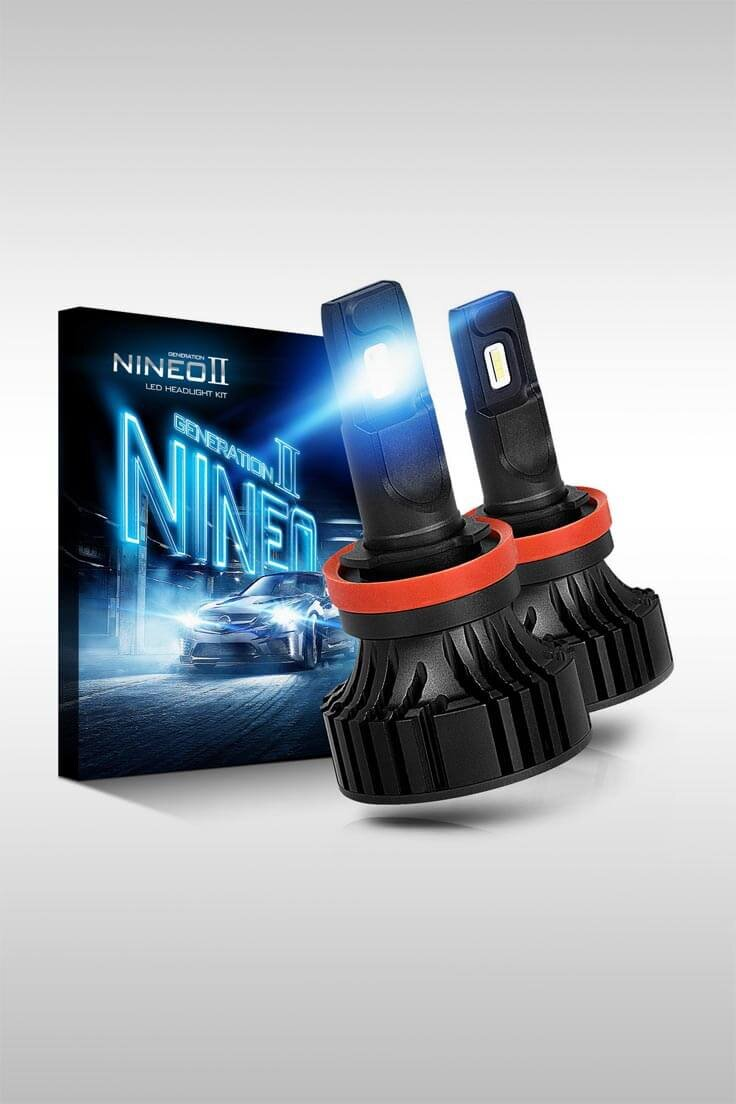 LED Headlight Conversion Kit With Cree Chips - Image Credit: Nineo