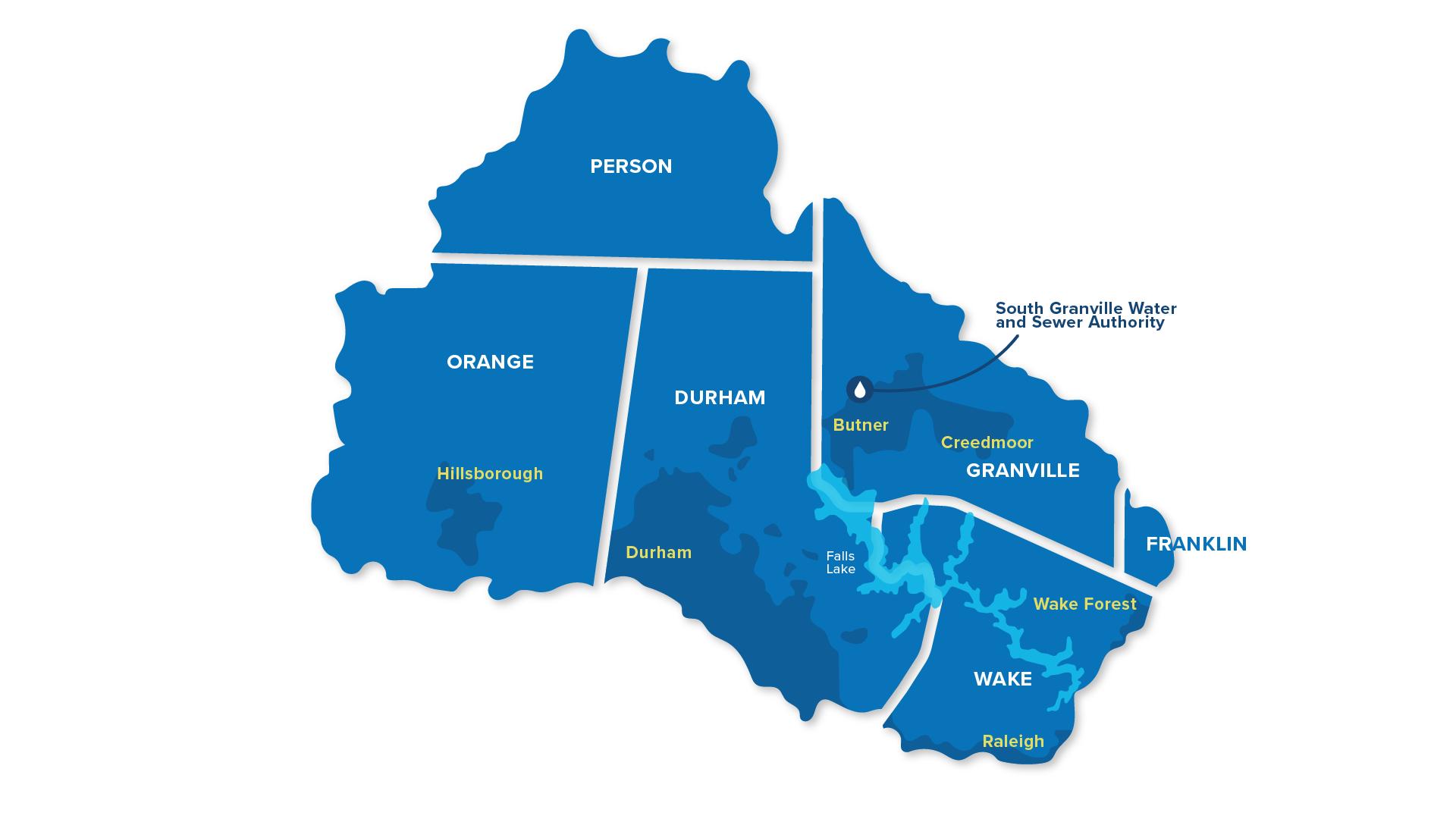 Upper Neuse River Basin Map
