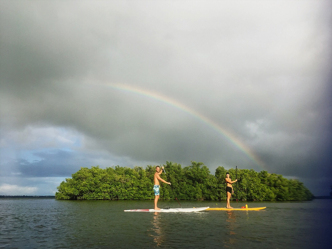 Surf Gwada is a Caribbean travel agent, that will guide you through the land, air and water. We know Guadeloupe islands map in every little detail and can share our knowledge with you. Try paddle board in Guadelupe waters, see the rainbow and smile for your life!