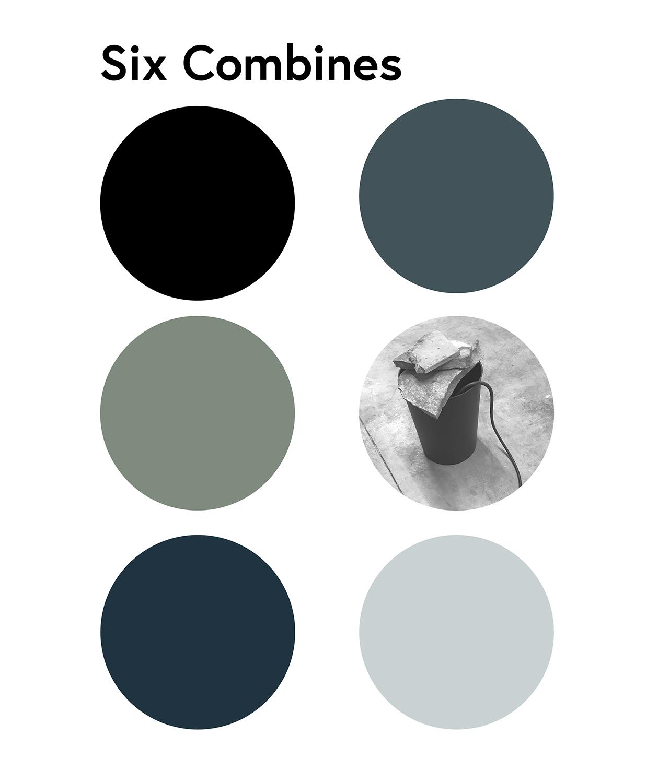 Six Combines / assemblage, six channel audio, performance / Michael Flora & Christian Langheinrich /Resonance Box Gallery, Summer 2018