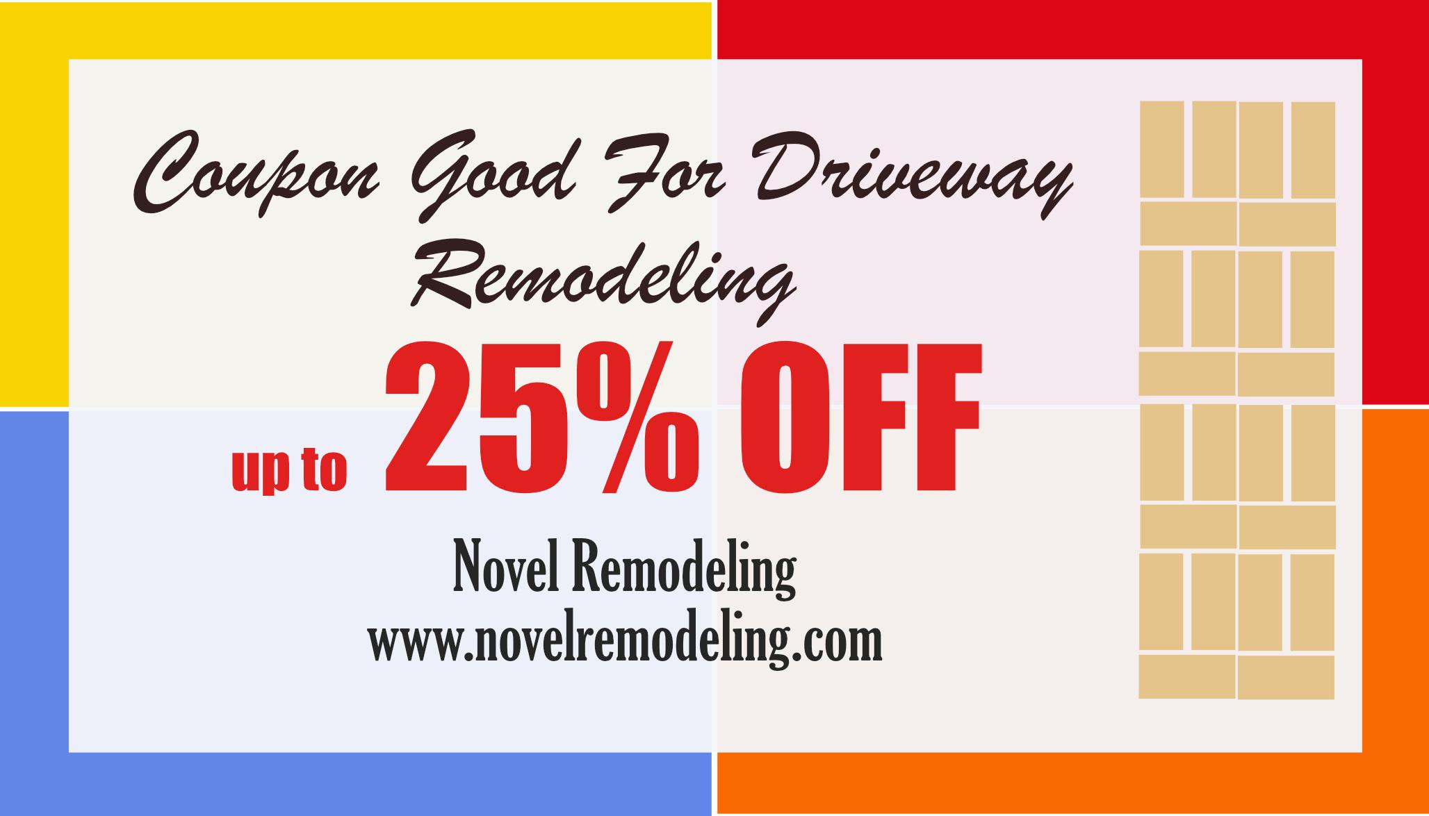 novel remodeling 25% Off Coupon Driveway Remodeling Los Angeles