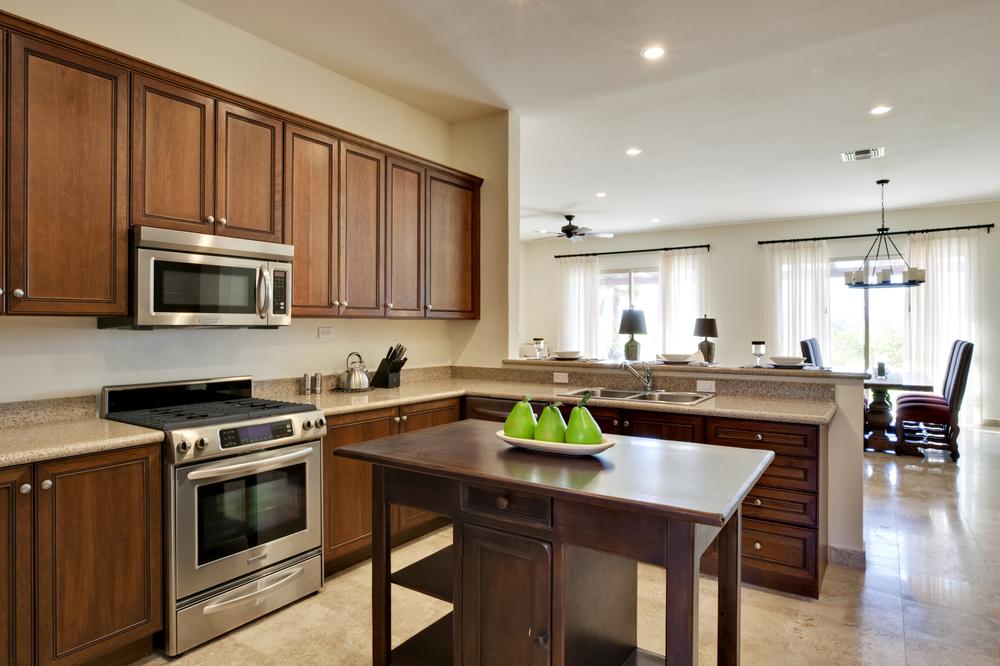 Wood Cabinet Kitchen Remodel