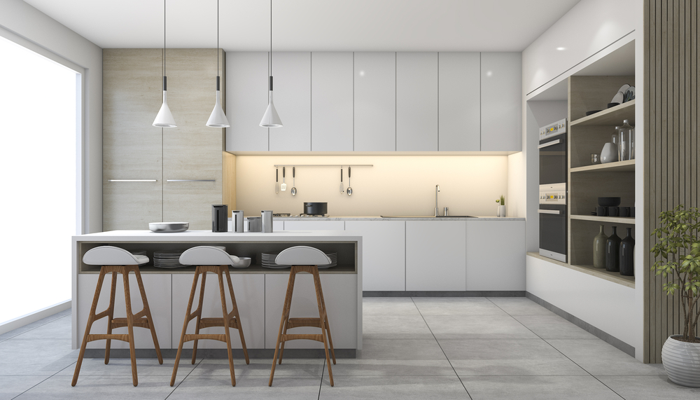 White Kitchen Design In Northridge, CA