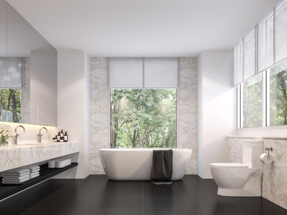 Minimalist bathroom design woodland hills, ca