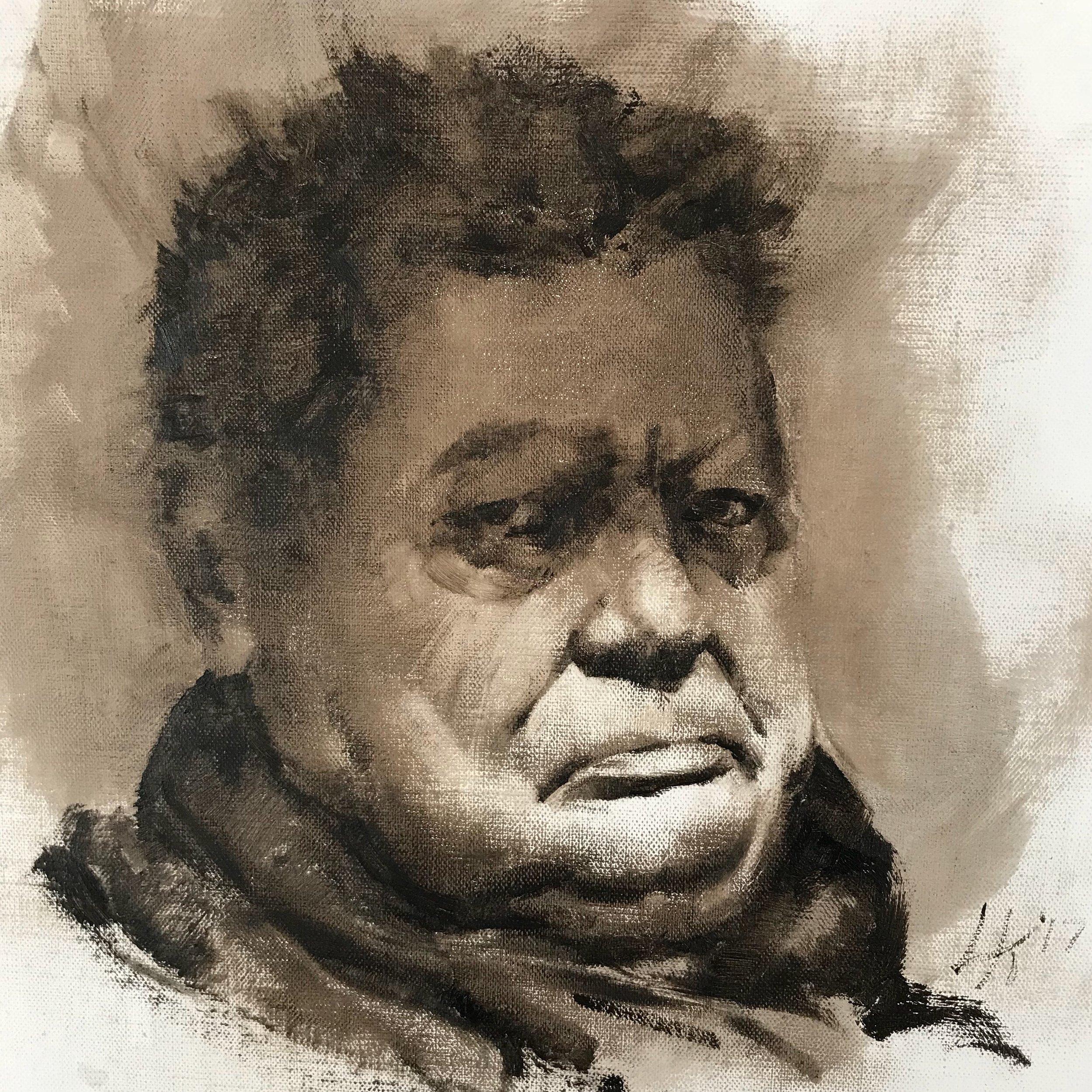 """Monochrome Male Portrait 2 9""""x9"""""""