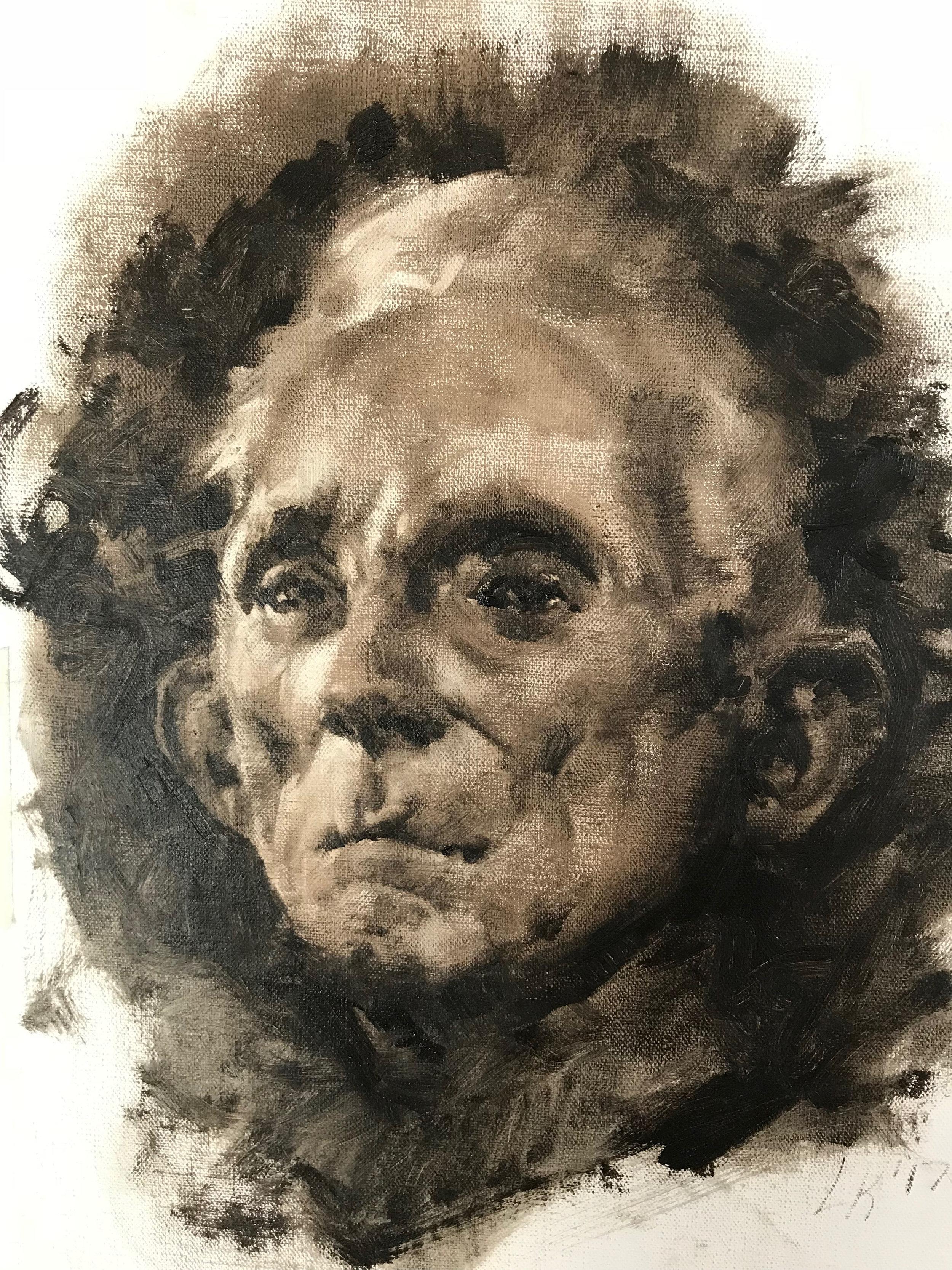 """Monochrome Male Portrait 3 9""""x11"""""""