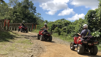Exploring the outback on ATVs