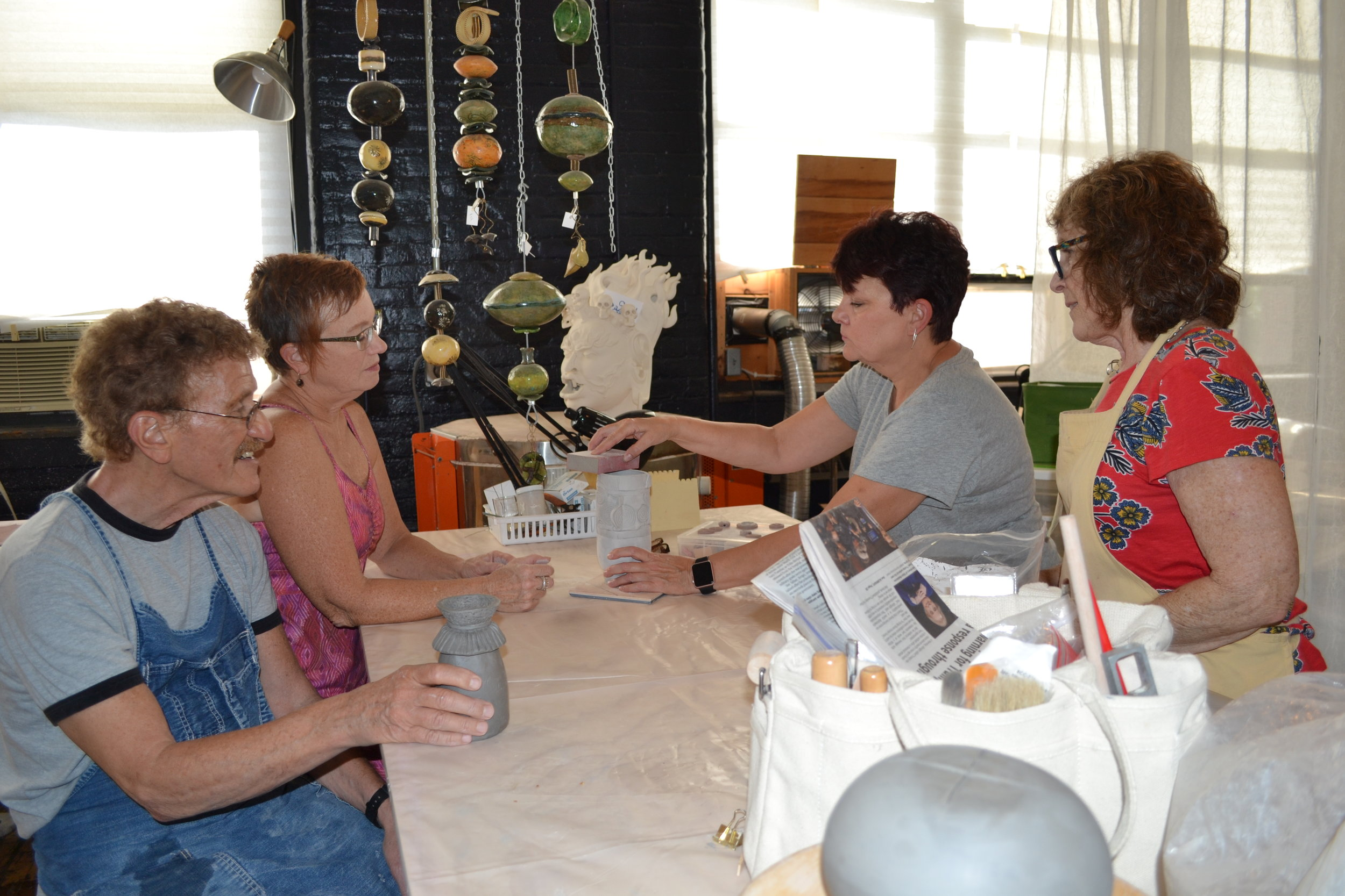 Collaboration helps everyone to learn new techniques about hand-crafted ceramics.