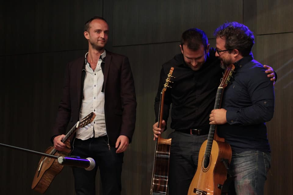 """The finale of the festival in Colombia culminated in a group performance of """"Chan Chan"""" with my fellow performers David Sossa and Julian Cardona. A wonderful moment filled with joy."""