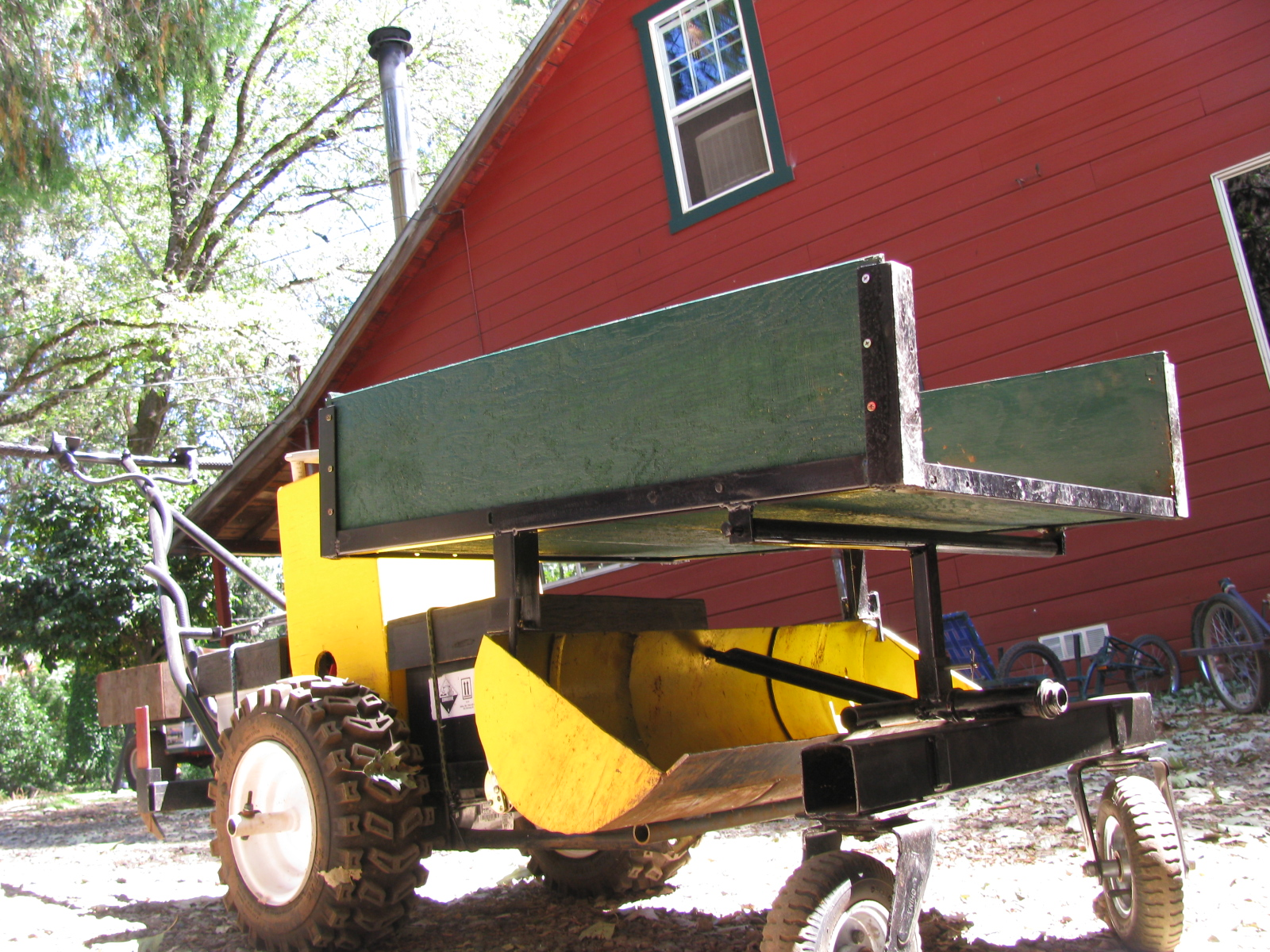 """2 Plan Set.. - Original and """"new'"""" design walk behind tractor with attachments (no Backhoe)112 pages of plans with visuals to let the builder create either or both walk Behind machines.$140.00 U.s. dollars"""