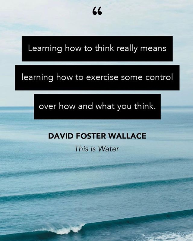"""Freedom: getting to decide what has meaning and what doesn't.   I recently revisited David Foster Wallace's commencement speech, """"this is water"""". I have found it to be inspiring and helpful for many years. Today, I wanted to share his overall message regarding CHOICE and THOUGHTS and AWARENESS and the power that you hold within you to choose how you think about things, and therefore how you react to all the circumstances that are outside of your control.   I put the link to the video in my bio....I encourage to watch it if you haven't, and even if you have, it may provide inspiration!   #mentalhealth #powerofthoughts #mindfulness #cbt #empowerment #positivity #counseling #commencementspeech #davidfosterwallace #thisiswater #inspirationalquotes #therapywithsarah #weho"""