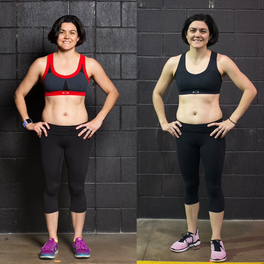 Angie - Lost 2.4lbsLost 3.10% Body FatGaines 2.9lbs Lean Muscle