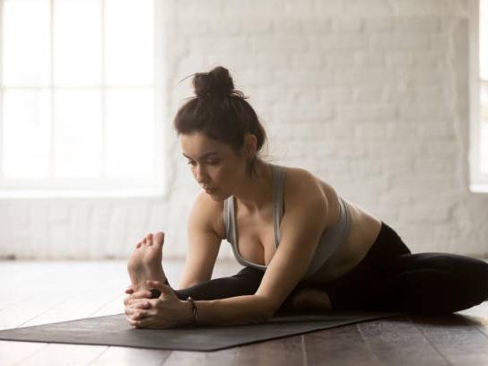 head to knee yoga pose hamstring stretch
