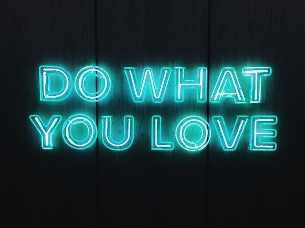 Do what you love neon sign
