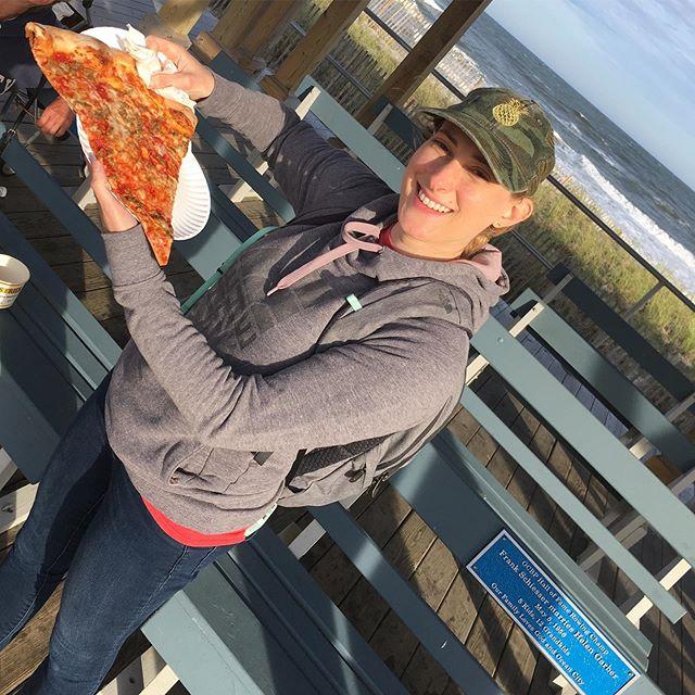 #bigslice #bigslicepizza #oceancitynj #oceancitynewjersey #boardwalkpizza #sausageandpeppers
