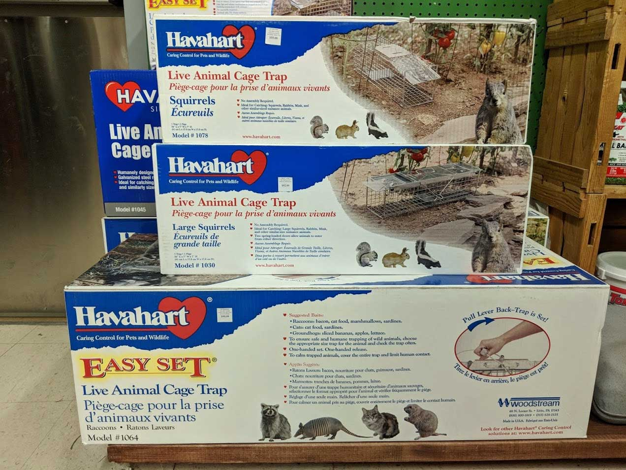 Humane traps for small to medium sized animals