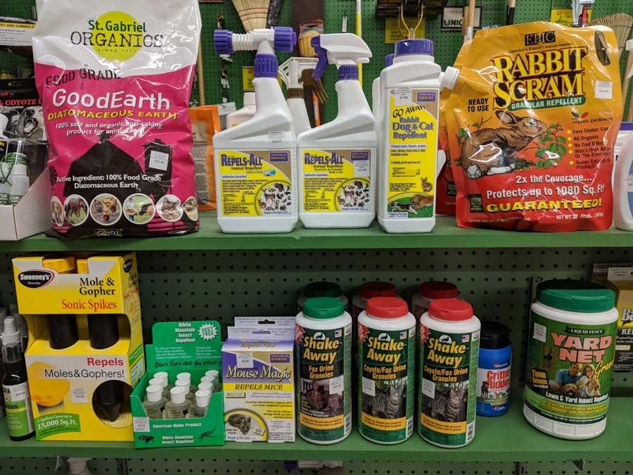 Granular and spray repellents