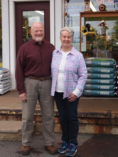 Gene Harrington and Judy Ratta-Harrington, owners of Nashua Farmers' Exchange