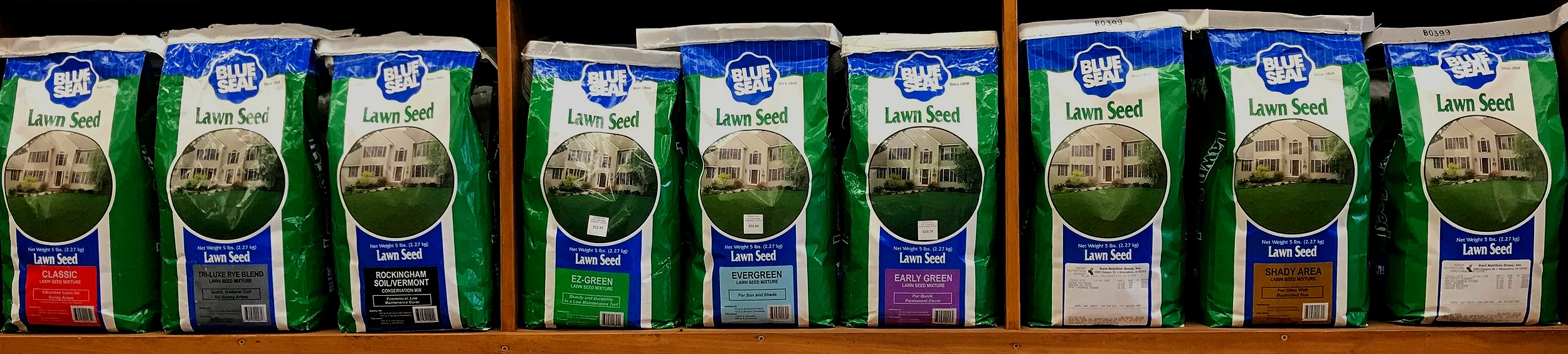 We have more than 9 varieties of grass seed that are specifically formulated for New England soils! Ask us which seed mix is best for your site conditions.