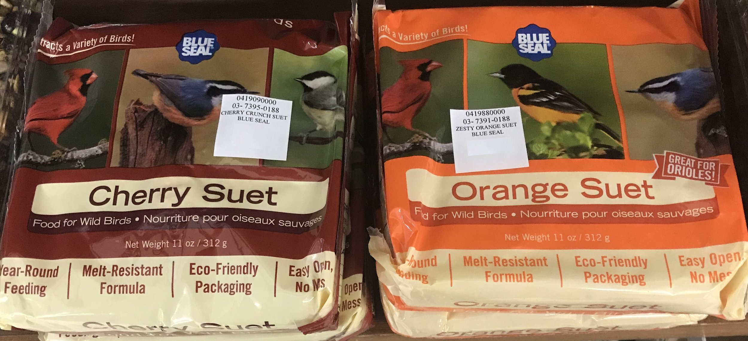 We carry a full line of Blue Seal Suet