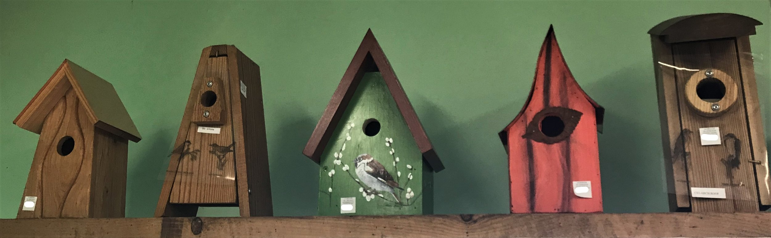 We've got birdhouses that are decorative and practical!