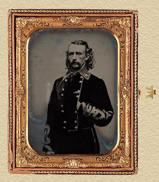 George A. Custer Half-Plate Ambrotype Photo