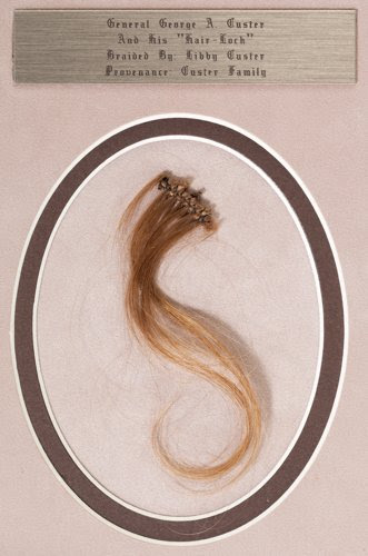 George A. Custer Braided Lock of Blond Hair