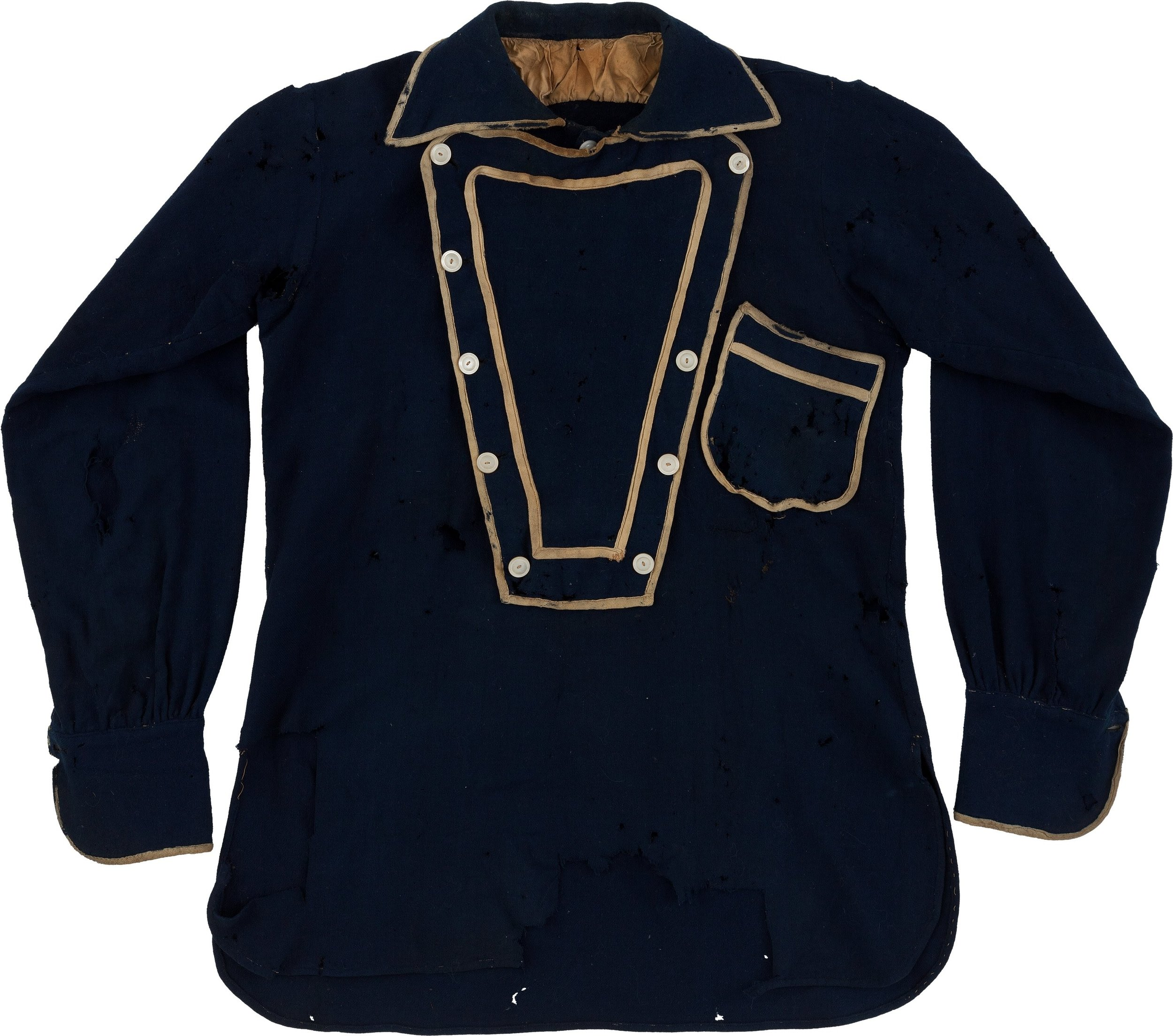 George A. Custer Navy Wool Bib Shirt