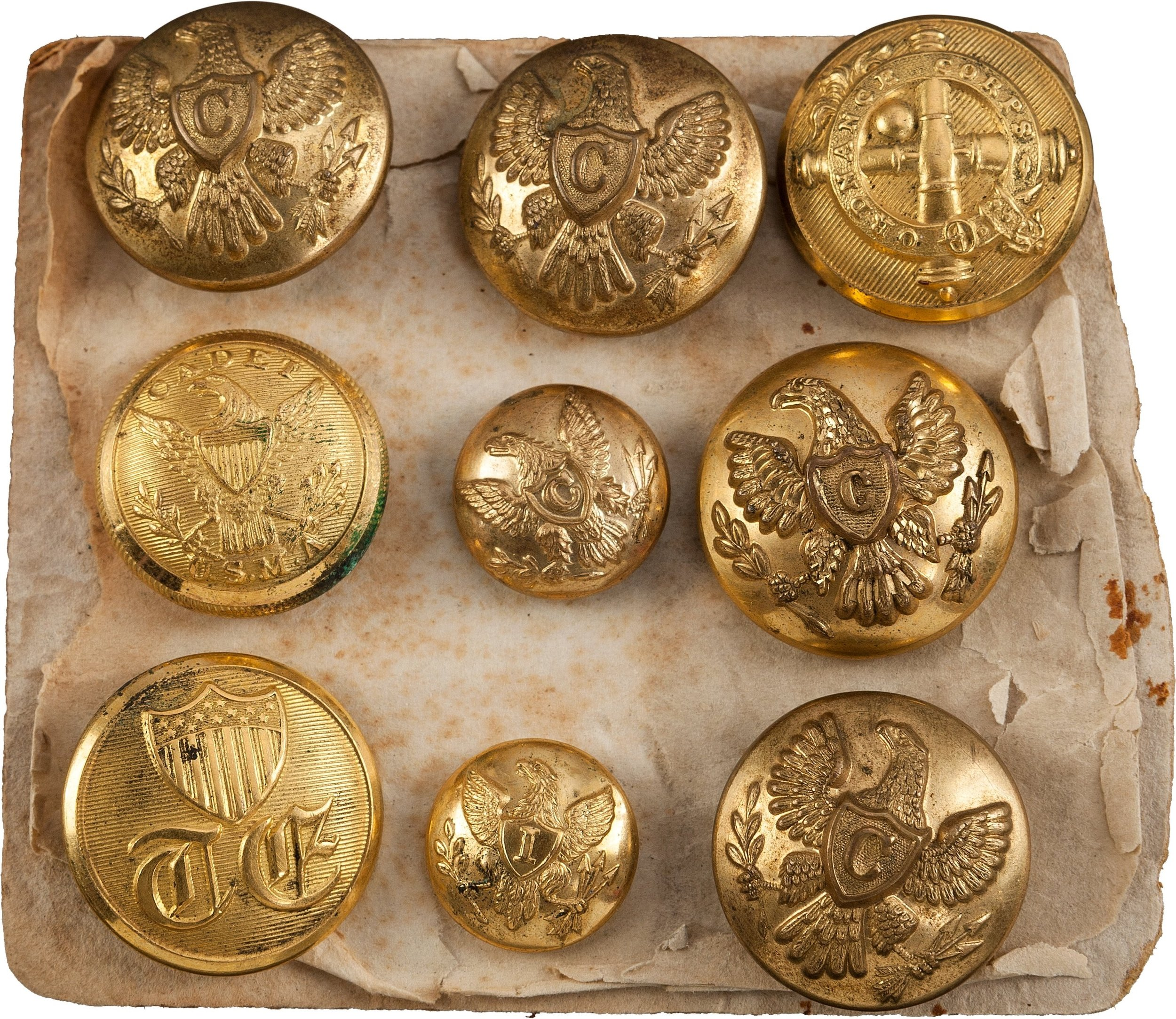 George A. Custer Uniform Buttons