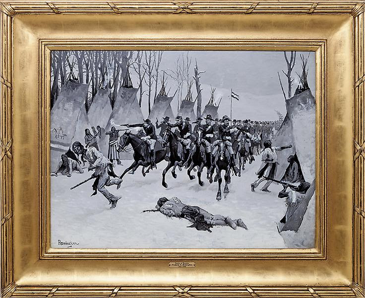 Frederic Remington's 1888 Original Oil Painting