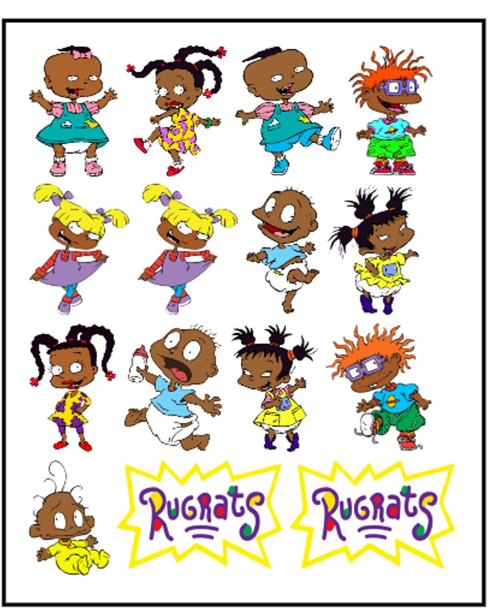 African American Rugrats Edible Images