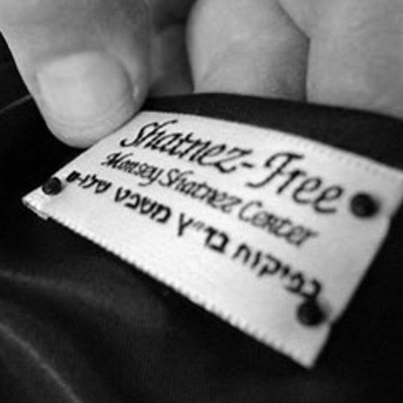 The Judaica House offers Shatnez testing by Mr. Y. Kreitman of the Monsey Shatnez Center. - Items are picked up from our premises every Monday morning and, if your garment is Shatzez free, it will be ready for pick-up on Wednesday. Garments to be checked must be in the store before closing on Sunday. Payment for testing is by cash or check (made out to