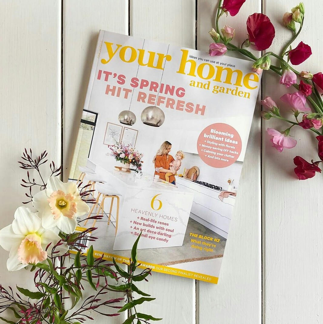 CHECK US OUT ON THE COVER OF YOUR HOME AND GARDEN SPRING ISSUE. -