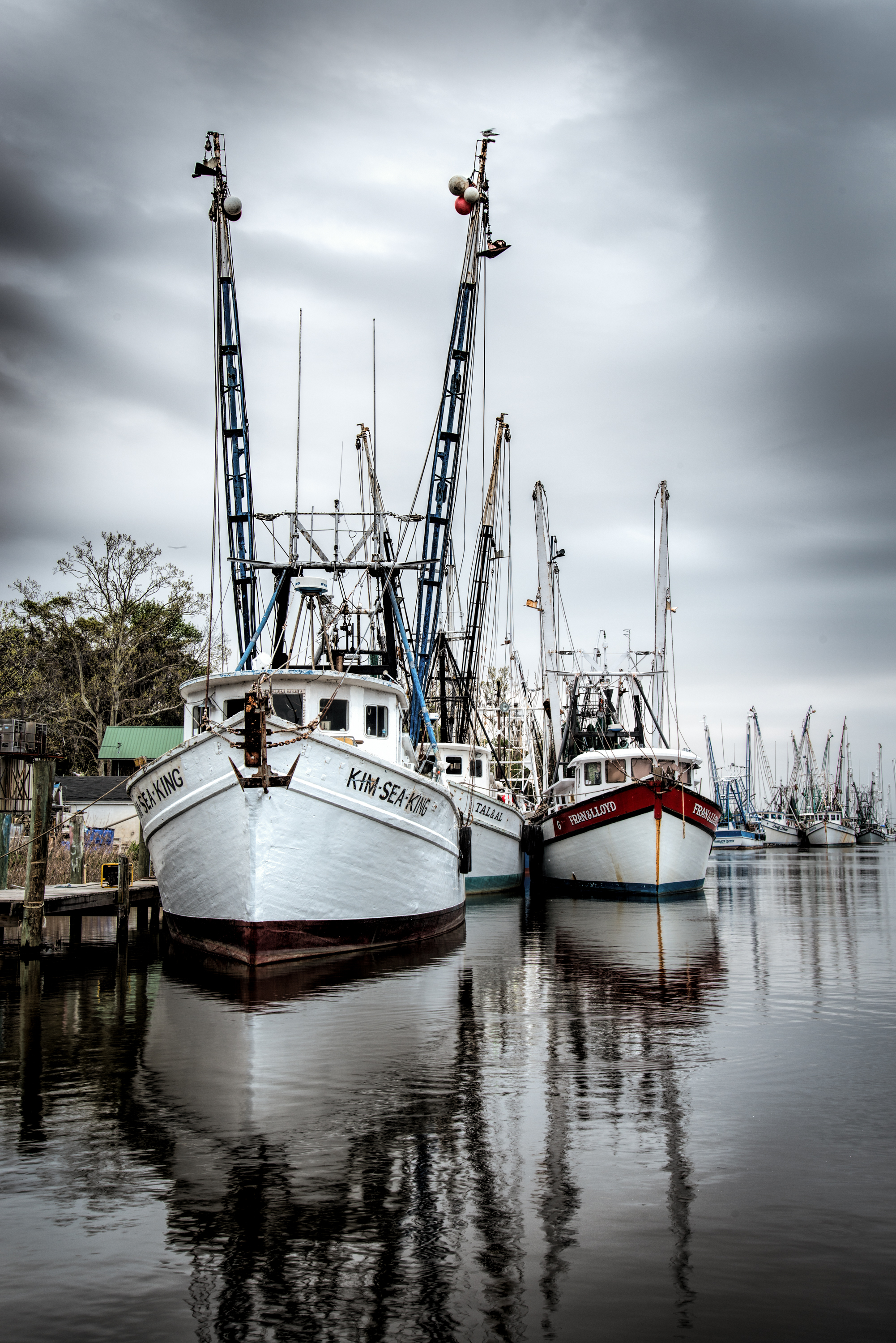 """""""Gone Fishing"""" has wone several awards and was photographed in Darien Georgia."""