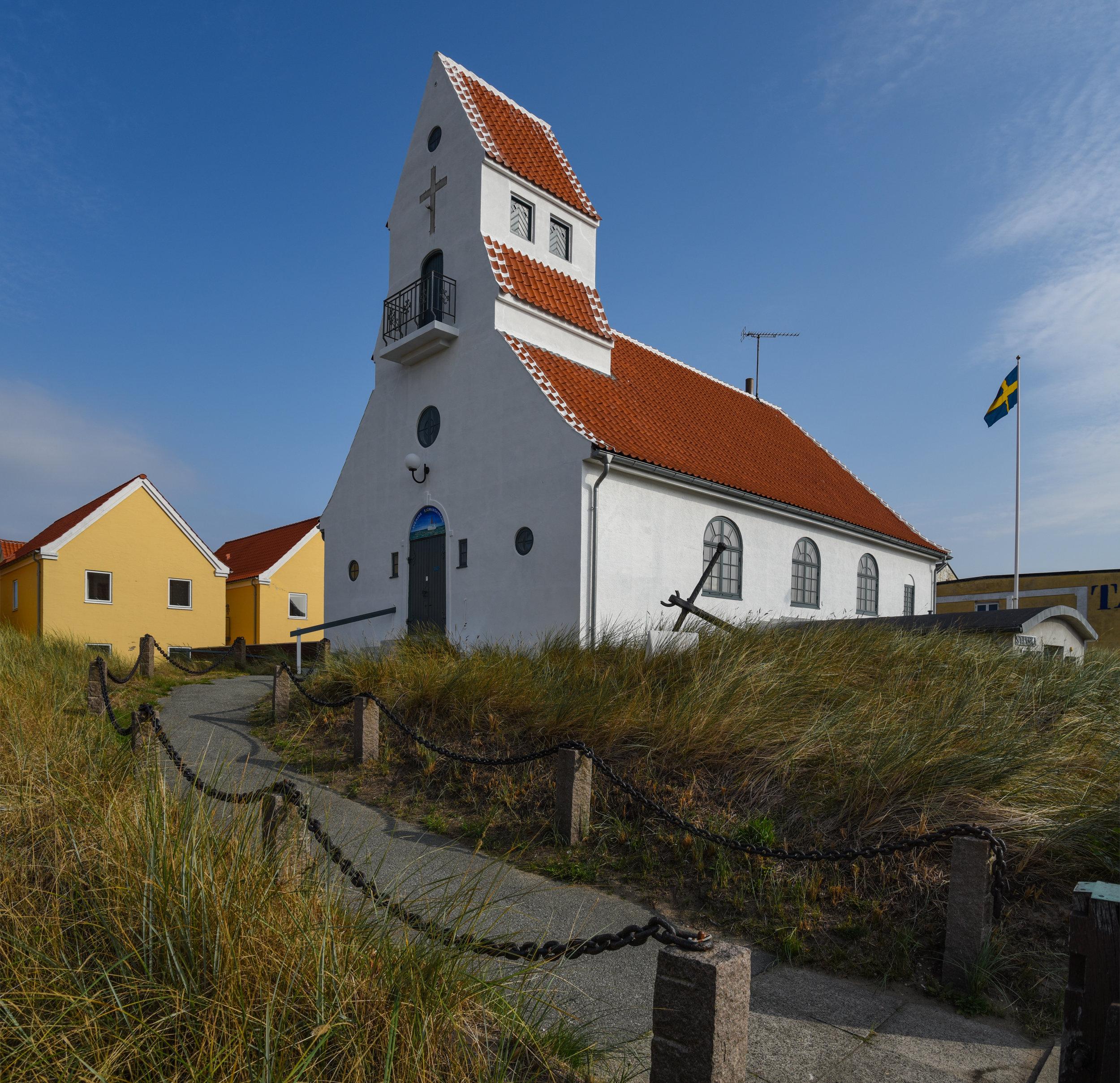A small church is Skagen Denmark.