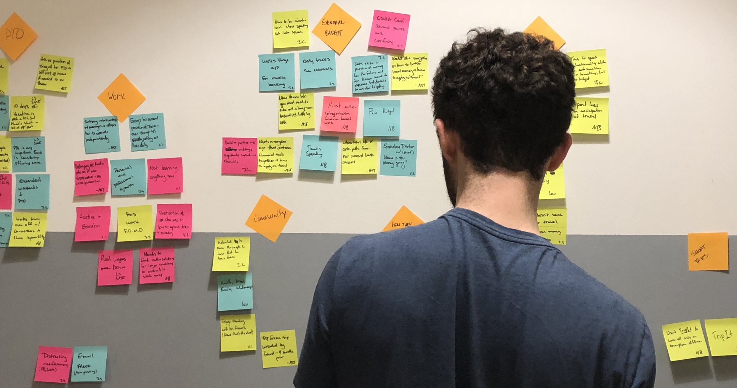 We returned to our affinity diagram throughout the entire project to validate our design decisions, even after we produced a problem statement and design principles.