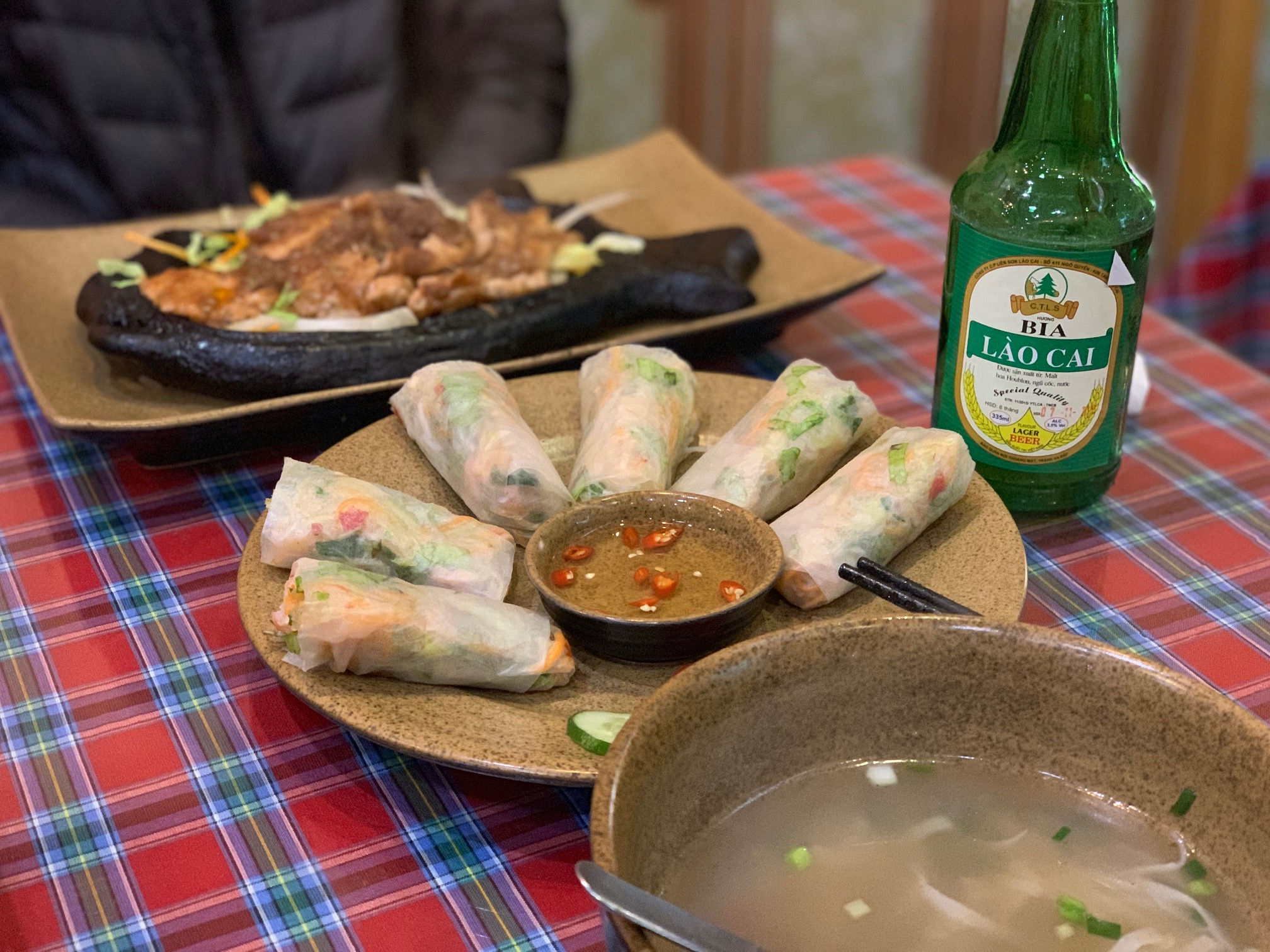lost count - spring rolls consumed (fresh and fried)