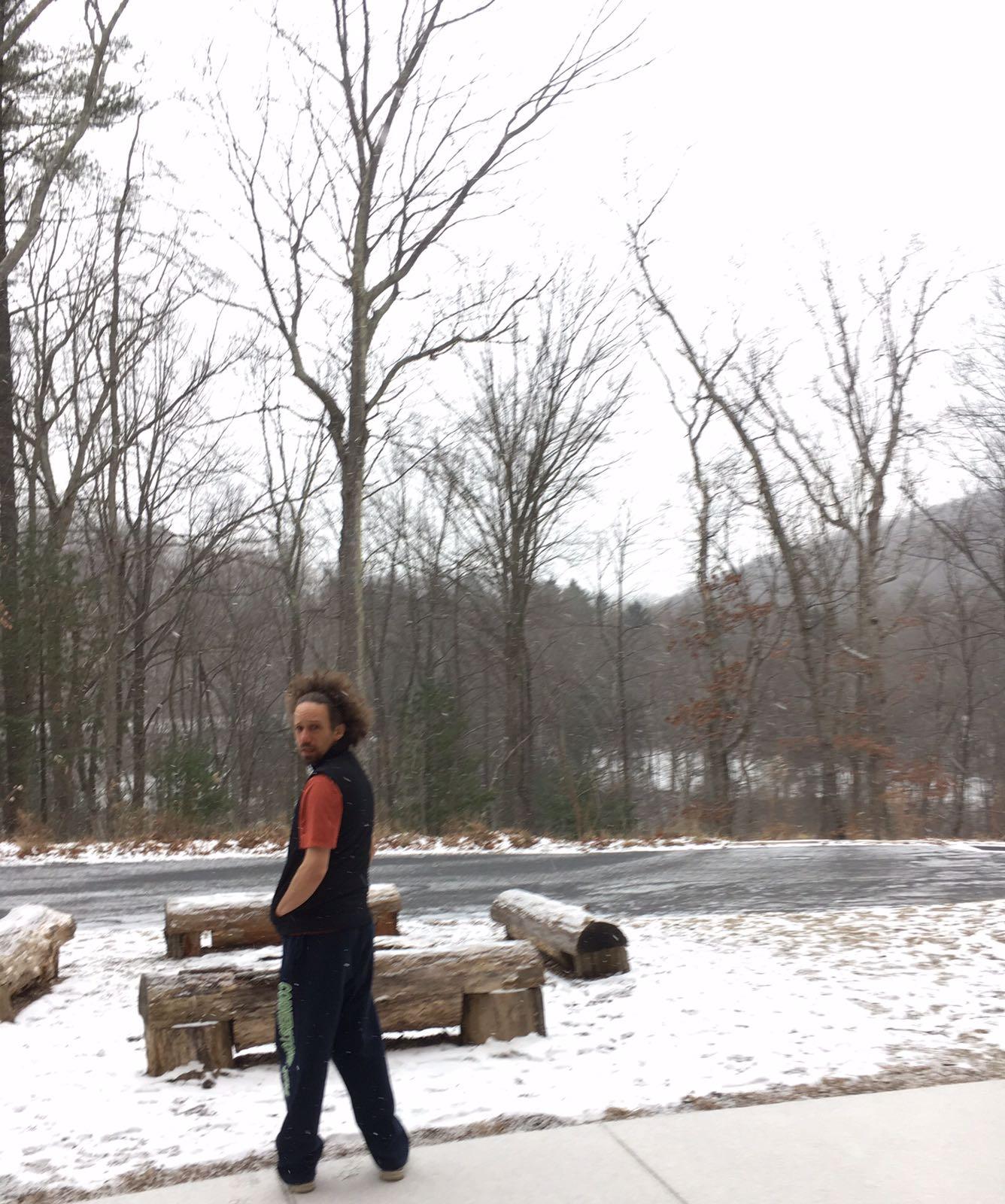Jonah in snow trees.JPG