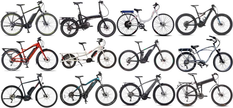 Just a few of the many types of e-bikes.
