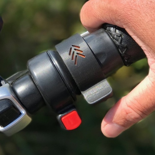 E-Bike thumb throttle similar to some snowmobiles and jet ski watercraft.